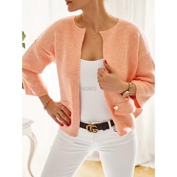 Sweterkowy żakiet OLGA z kieszeniami MORELA