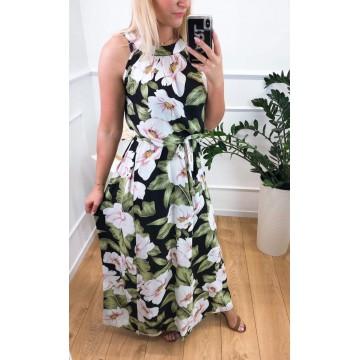 Sukienka Miss Sara PINK FLOWERS KWIATY